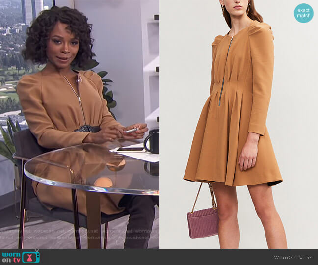 Rangia Dress by Maje worn by Zuri Hall  on E! News