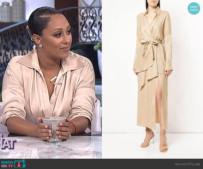 Status Update dress by Manning Cartell worn by Tamera Mowry  on The Real