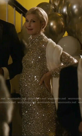 Melissa's sequin gown on Dynasty