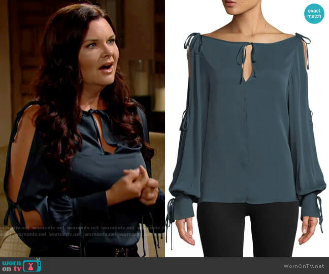 Milly Connie Blouse worn by Katie Logan (Heather Tom) on The Bold & the Beautiful