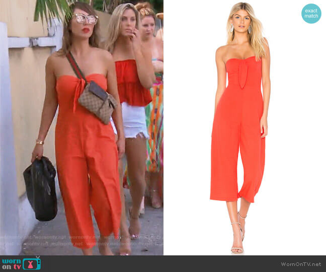 Say it Right Jumpsuit by MinkPink worn by Kelly Dodd on The Real Housewives of Orange County