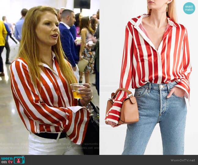 Aspen Shirt by Mother of Pearl worn by Brandi Redmond on The Real Housewives of Dallas