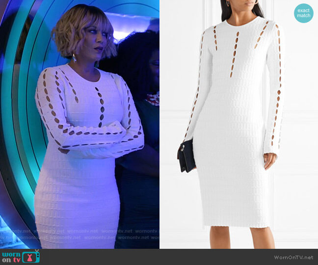Cutout Ribbed Stretch-Knit Dress by Narciso Rodriguez worn by Giselle (Nicole Ari Parker) on Empire
