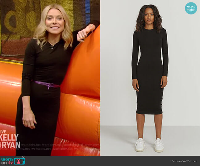 Bodycon Stretch-Jersey Dress by Ninety Percent worn by Kelly Ripa  on Live with Kelly & Ryan
