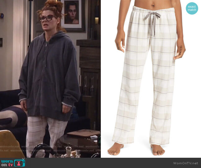 Plaid Pants by PJ Salvage worn by Grace Adler (Debra Messing) on Will & Grace