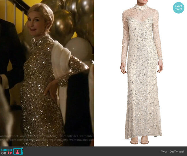 Leandra Gown by Parker Black worn by Kelly Rutherford on Dynasty