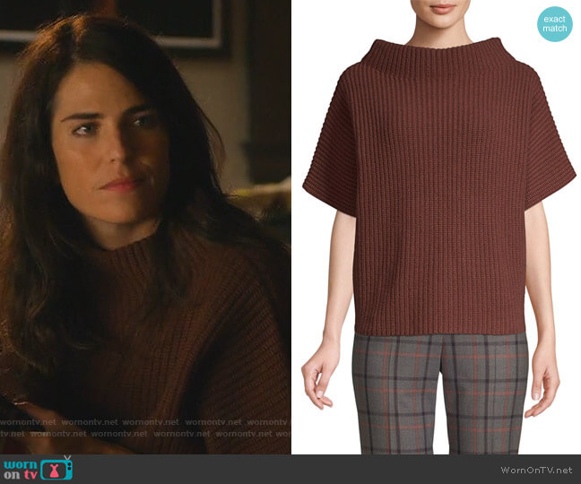 Knit Boatneck Sweater by Peserico worn by Laurel Castillo (Karla Souza) on HTGAWM