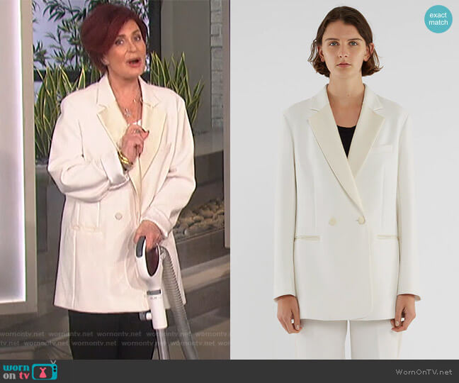 Oversized Blazer by Phillip Lim 3.1 worn by Sharon Osbourne on The Talk