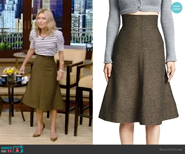 Midi Skirt by Philosophy di Lorenzo Serafini worn by Kelly Ripa  on Live with Kelly & Ryan