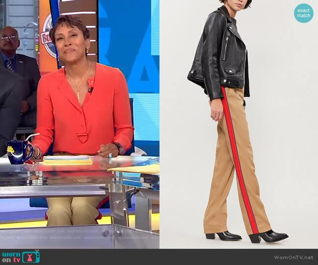 Ermanno Pants by Pinko worn by Robin Roberts on Good Morning America
