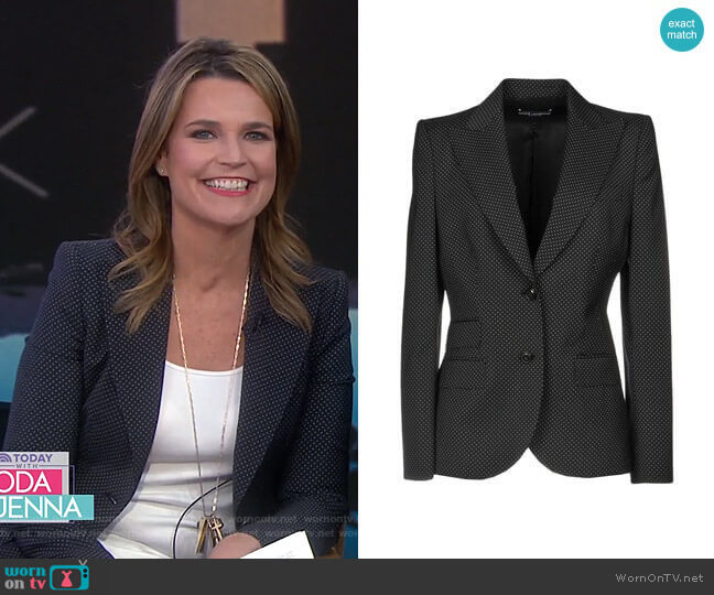 Polka Dot Blazer by Dolce & Gabbana worn by Savannah Guthrie (Savannah Guthrie) on Today