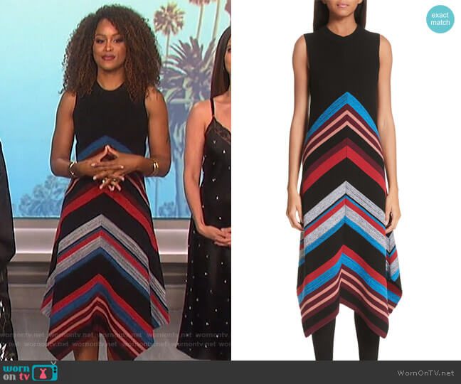 Eve's striped dress on The Talk