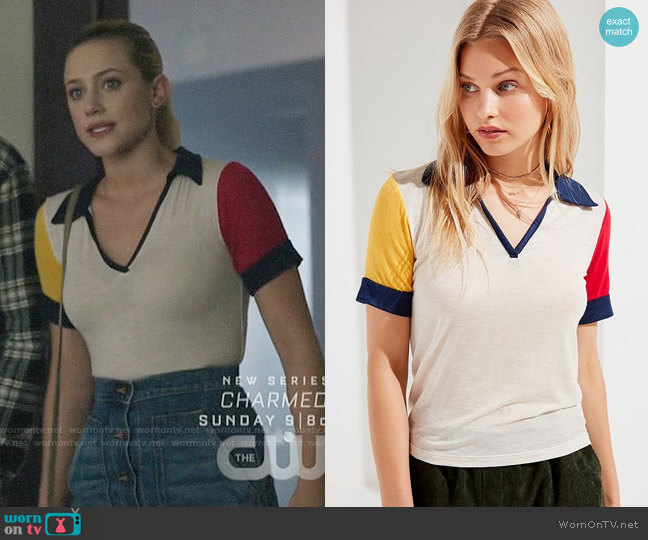 Project Social T Jonni Polo Shirt worn by Betty Cooper (Lili Reinhart) on Riverdale