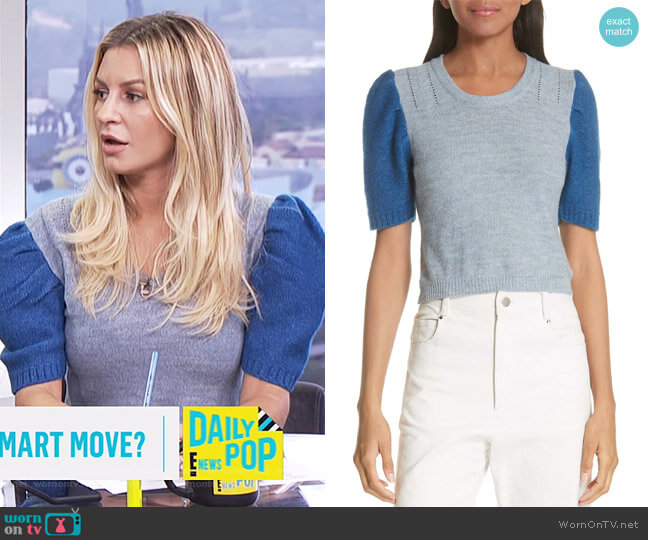 Contrast Sleeve Sweater by Rachel Comey worn by Morgan Stewart on E! News
