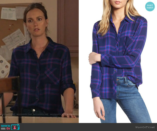 Hunter Shirt by Rails worn by Leighton Meester on Single Parents