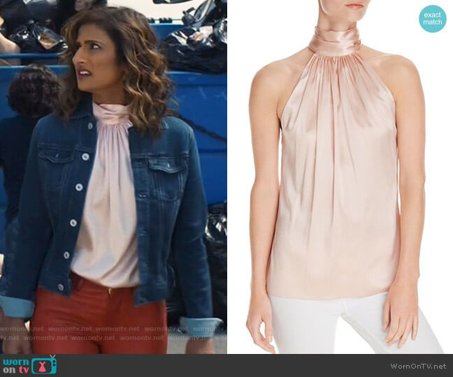 Paige Top by Ramy Brook worn by Emet Kamala-Sweetzer (Sarayu Blue) on I Feel Bad