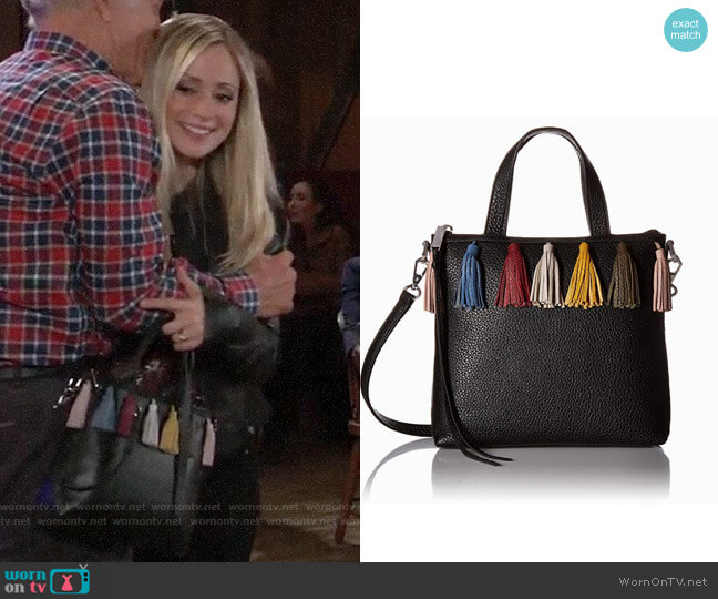 Rebecca Minkoff Sofia Small Tote worn by Lulu Spencer Falconeri (Emme Rylan) on General Hospital
