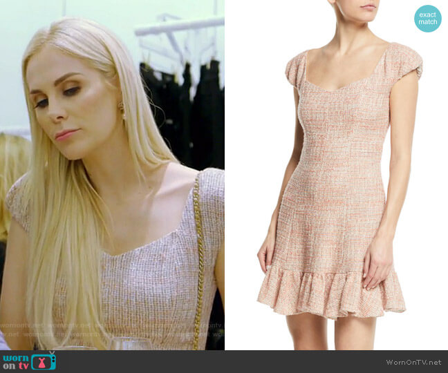 Tweed Flounce Dress by Rebecca Taylor worn by Kameron Westcott  on The Real Housewives of Dallas