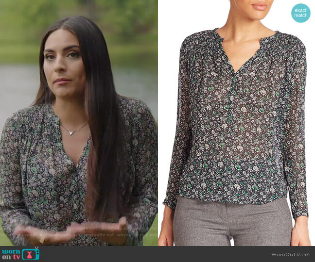 Long Sleeved Silk Blouse by Rebecca Taylor worn by Cristal Jennings (Daniella Alonso) on Dynasty