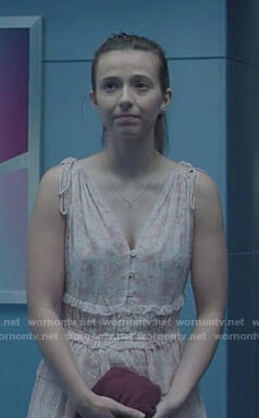 Rebecca's pink floral dress on The Gifted