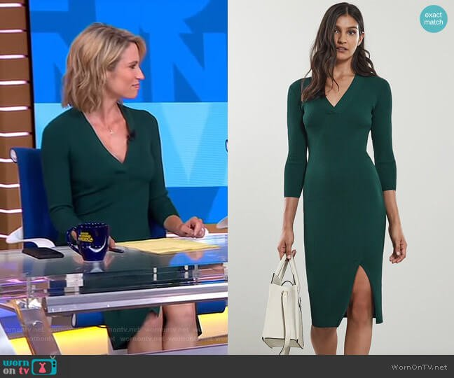 Aletti Dress by Reiss worn by Amy Robach on Good Morning America