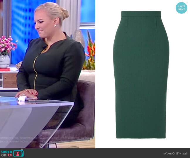 Arreton wool-crepe pencil skirt by Roland Mouret worn by Meghan McCain  on The View