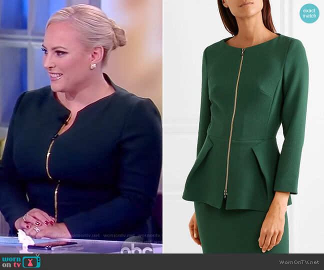 Erickson wool-crepe jacket by Roland Mouret worn by Meghan McCain  on The View