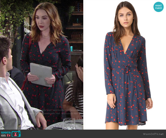 Rollas Dancer Wrap Dress worn by Mariah Copeland (Camryn Grimes) on The Young & the Restless