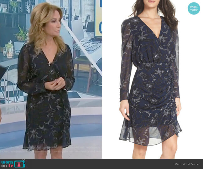 Kathie's navy floral dress on Today