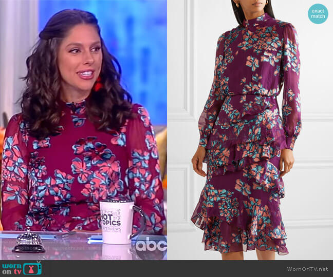 Isa dress by Saloni worn by Abby Huntsman  on The View