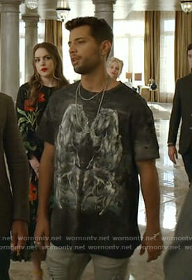 Sam's horse print distressed tee on Dynasty
