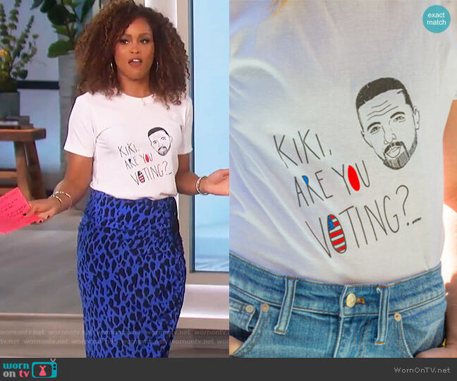 Kiki are you voting T-shirt by Sameside worn by Eve on The Talk