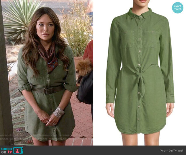 Knotted Shirtdress by Sanctuary worn by Camille (Lindsay Price) on Splitting Up Together