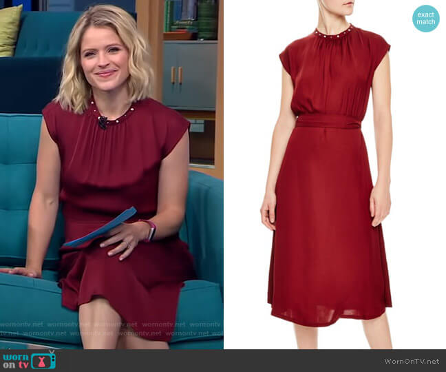 Conique Dress by Sandro worn by Sara Haines  on Good Morning America