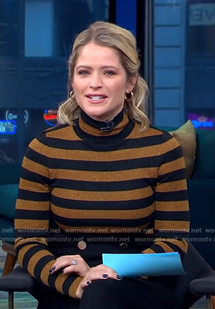 Sara's striped turtleneck sweater on GMA Day