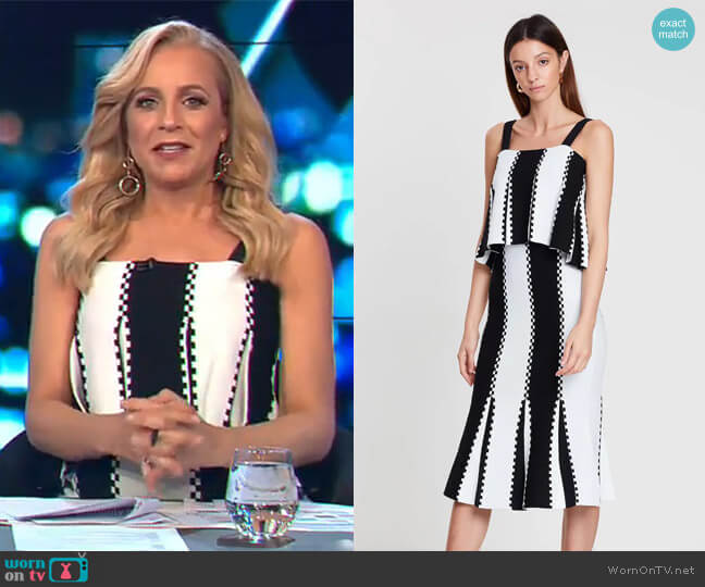 Letter From Paris Knit Dress by Sass & Bide worn by Carrie Bickmore (Carrie Bickmore) on The Project