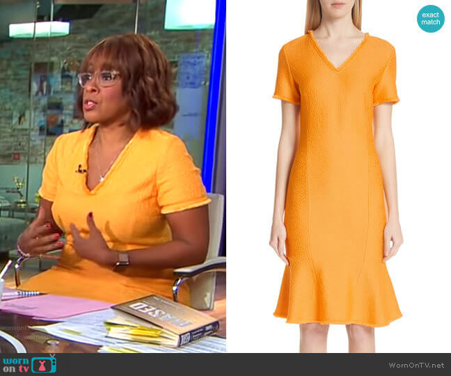 Caris Dress by St. John Collection worn by Gayle King (Gayle King) on CBS This Morning