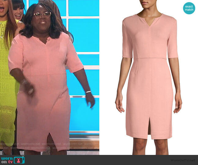 Wool-Blend Sheath Dress by St. John worn by Sheryl Underwood  on The Talk