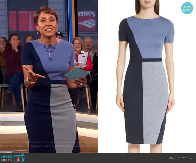Robin's colorblock dress on Good Morning America