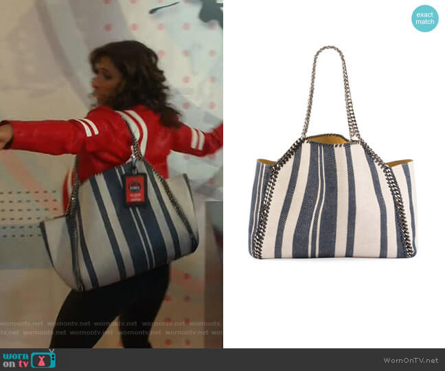 Falabella Reversible Tote Bag by Stella McCartney worn by Emet Kamala-Sweetzer (Sarayu Blue) on I Feel Bad