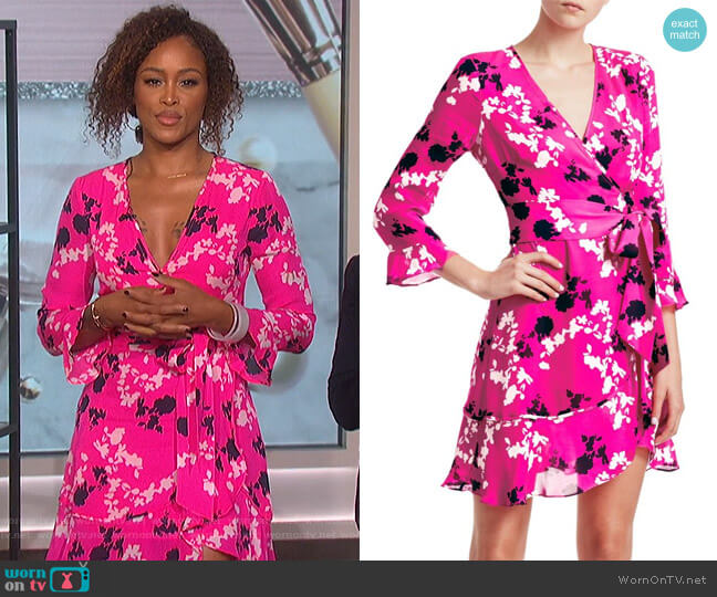 Camo Wrap Dress by Tanya Taylor worn by Eve on The Talk
