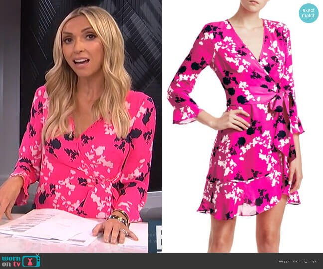 Camo Wrap Dress by Tanya Taylor worn by Giuliana Rancic  on E! News