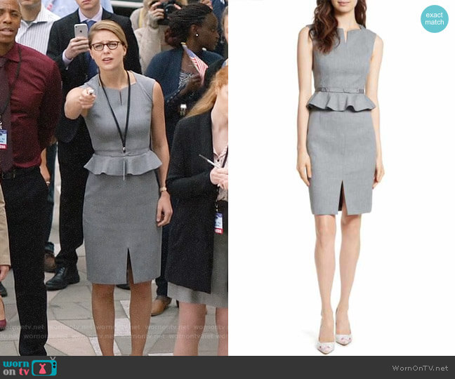Ted Baker Nadaed Dress worn by Melissa Benoist on Supergirl