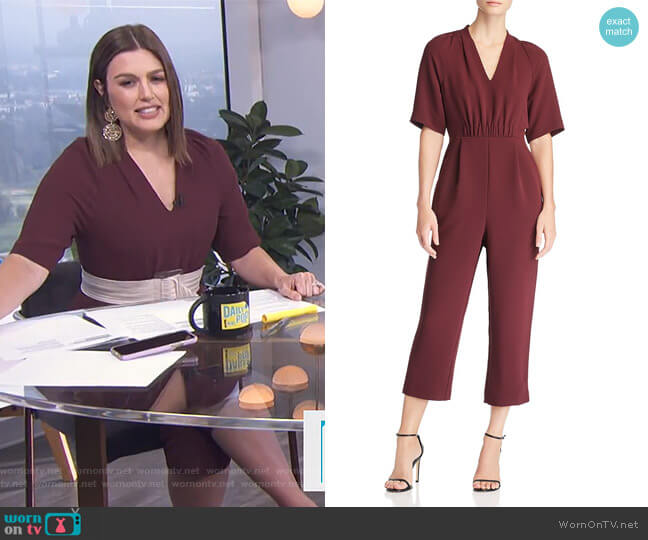 Devyn Crepe Jumpsuit by Whistles worn by Carissa Loethen Culiner on E! News
