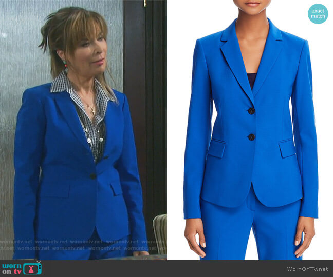 Carissa Classic Blazer by Theory worn by Kate Roberts (Lauren Koslow) on Days of our Lives