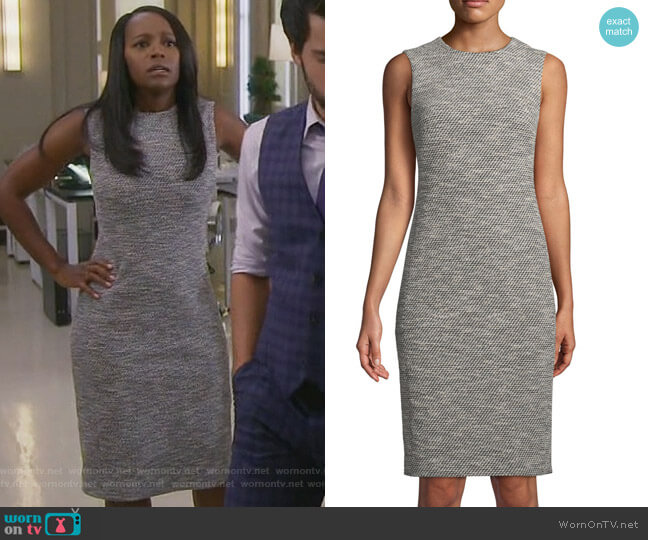 Eano Benton dress by Theory worn by Aja Naomi King on HTGAWM