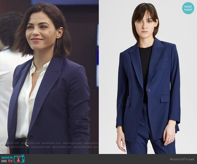 Good Wool Long Blazer by Theory worn by Jenna Dewan on The Resident