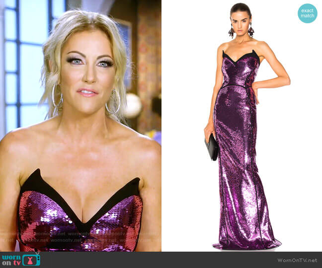 Sequin Mermaind Gown by Mugler worn by Stephanie Hollman  on The Real Housewives of Dallas