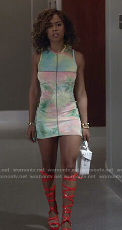 Tiana's tie dye mini dress on Empire