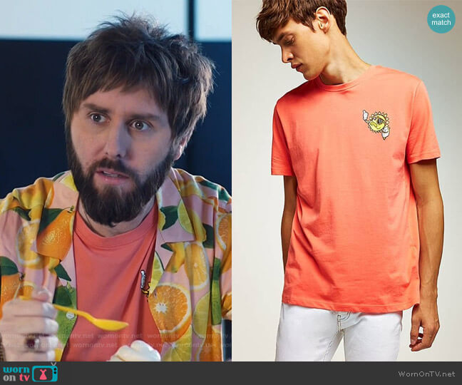 Sun T-Shirt by Topman worn by James Buckley on I Feel Bad